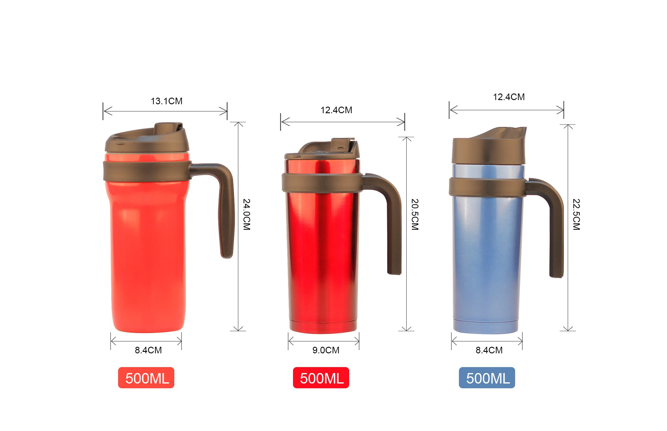 Coffee tumbler with handle