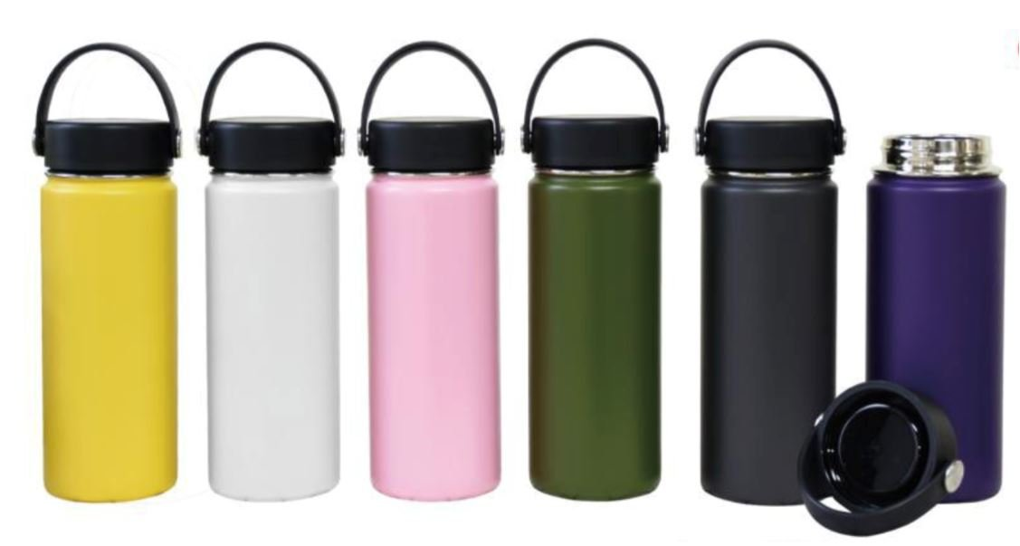 Different colors of hydro flask cups