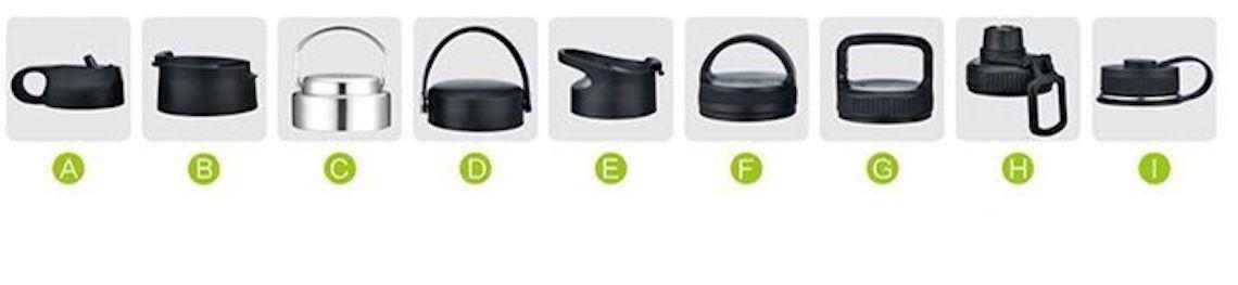 Figure 4 Hydro flask lid options