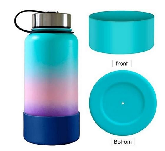 Silicone boot for multicolor hydroflask